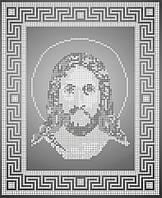 Схема для вишивки та вишивання бісером Бисерок ікони «Ісус»  срібло (A4) 20x25 (ЧВ-3112-1(10))