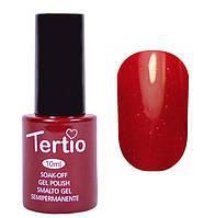 Гель-лак Tertio 10 мл №092 (темно-красный с розовым микроблеском)