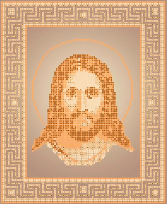Схема для вишивки та вишивання бісером Бисерок ікона «Ісус (ЧВ-3112» (A4) 20x25 (ЧВ-3112(10))