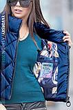 Куртка из перламутровой плащевки  цвет синий L, фото 2