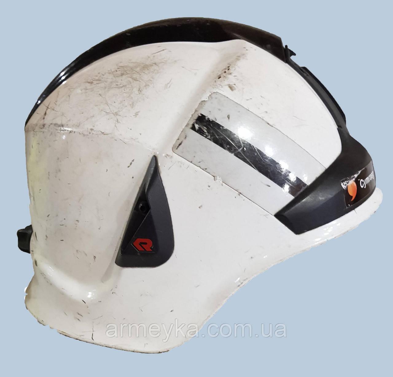 Шлем ( корус) пожарного Rosenbauer Heros Xtreme , белый. Великобритания, оригинал.