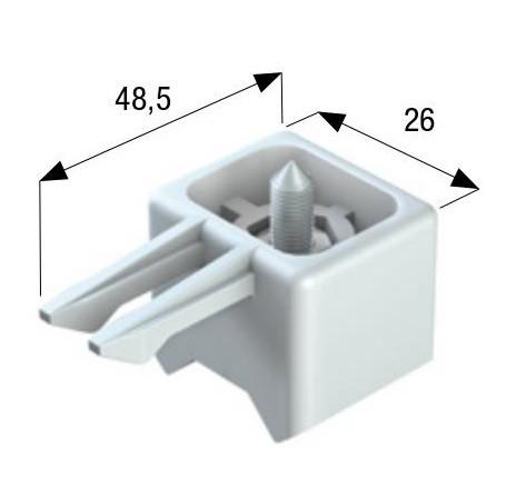 Концевой упор для остановки кареток 24 мм.с фиксацией
