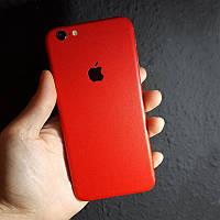 Матовые Красные Наклейки на iPhone 6 и 6s Скин Виниловые Декоративные Защитная Пленка Матовая 3D Винил Стикер