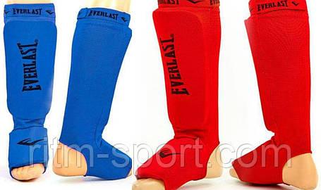 Защита голени и стопы с фиксатором (красная, синяя), фото 2