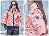 Куртка из перламутровой плащевки  цвет розовый S-M, фото 2