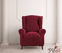 Чехол на кресло натяжной Испания, Glamour Bordeaux Гламур бордовый