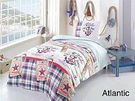 Постельное белье ранфорс Altinbasak (полуторное) № Atlantic