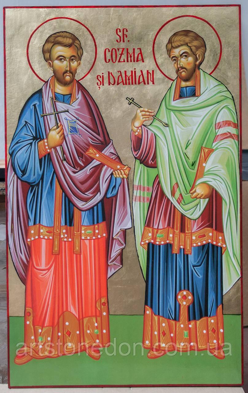 Икона Святые мученики, чудотворцы и бессребреники Косма и Дамиан