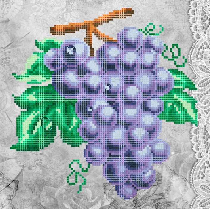 Схема для вишивки та вишивання бісером Бисерок «Синє гроно» (A4) 20x25 (ЧВ-3325(10))