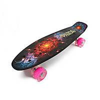 PENNY ABSTRACTION Cosmic flower со светящимися розовыми колесами