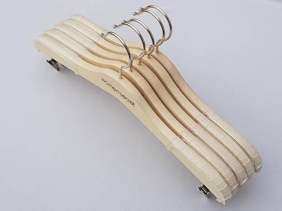 Длина 33 см, в упаковке 5 штук. Плечики для нижнего белья Women Secret цвета натурального дерева, фото 2
