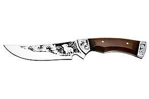 Ніж мисливський ручної роботи Архар, шкіряний чохол в комплекті