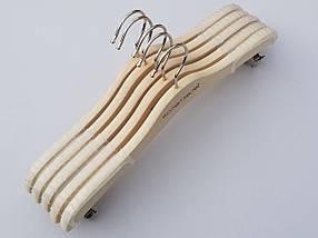 Длина 33 см, в упаковке 5 штук. Плечики для нижнего белья Women Secret цвета натурального дерева, фото 3