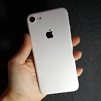 Матовые Белые Наклейки на iPhone 7 Скин Виниловые Декоративные Защитная Пленка Матовая 3D Винил Стикер Мат