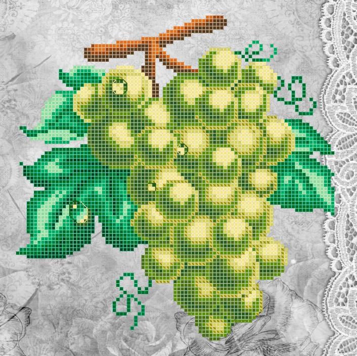 Схема для вишивки та вишивання бісером Бисерок «Зелене гроно» (A4) 20x25 (ЧВ-3324(10))