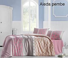 Постельное белье ранфорс Altinbasak (полуторное) № Aleda Pembe
