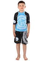 Детский компрессионный рашгард и шорты Berserk for pankration APPROVED WPC ММА blue