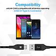 Кабель Promate uniLink-CAM USB - USB Type-C 1.2 м Black, фото 3
