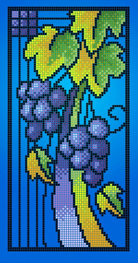 Схема для вишивки та вишивання бісером Бисерок «Вітраж осінь» (A4) 20x25 (ЧВ-3309(10))