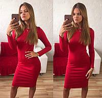 Женское платье чехол. Красный, фото 1