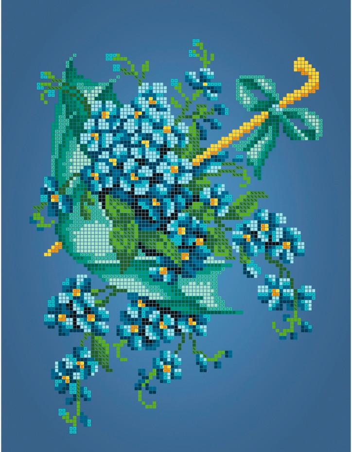 Схема для вишивки та вишивання бісером Бисерок «Зеленый зонт» (A4) 20x25 (ЧВ-3405(10))
