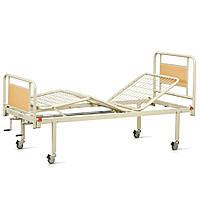 Комплект OSD-94V+OSD-90V+Mat-80: Кровать металлическая механическая на колесах, со съемными спинками (3секции) + Матрас медицинский для кровати