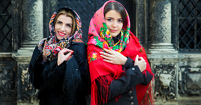 Павлопосадский красный платок Джиорджина, фото 3