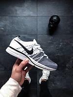 Мужские Кроссовки Nike Flyknit Trainer (White / Black — White)