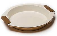 Форма керамическая круглая для выпечки Maestro,антипригарное покрытие,разм28,5х26,5х4 см