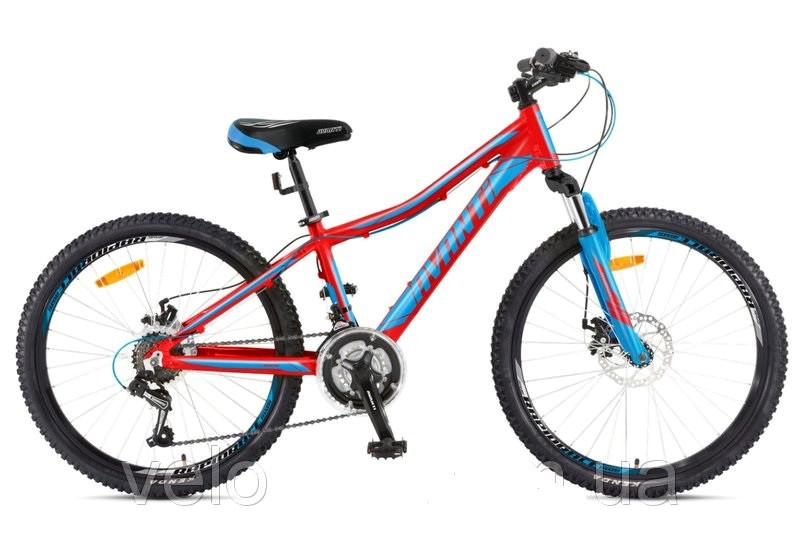 """Подростковый велосипед AVANTI RAPID 24"""" 13""""  Оранжевый/Синий"""