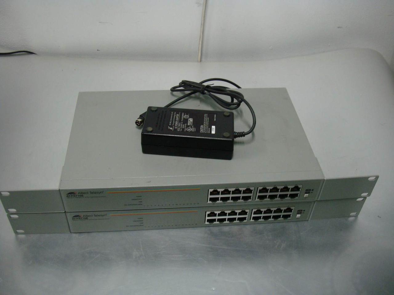 Switch комутатор на 16 портів Allied AT-FS716E на запчастини