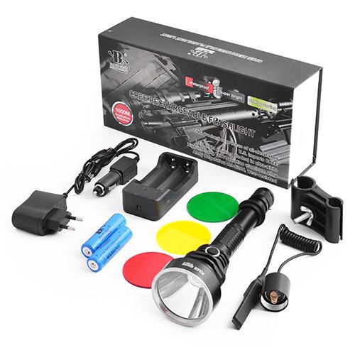 Фонарь под ружье, подствольный фонарик, мощный и надежный, крепления в комплекте + 3 светофильтра