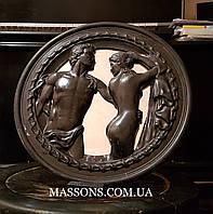 Медальон мрамор черный
