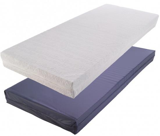 Противопролежневый матрас Invacare Basic, синий влагонепроницаемый чехол 195х88х14, Англия