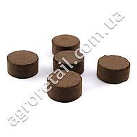 Торфобиогумусная таблетка Достаток Гуми+ Ø30 мм, фото 1