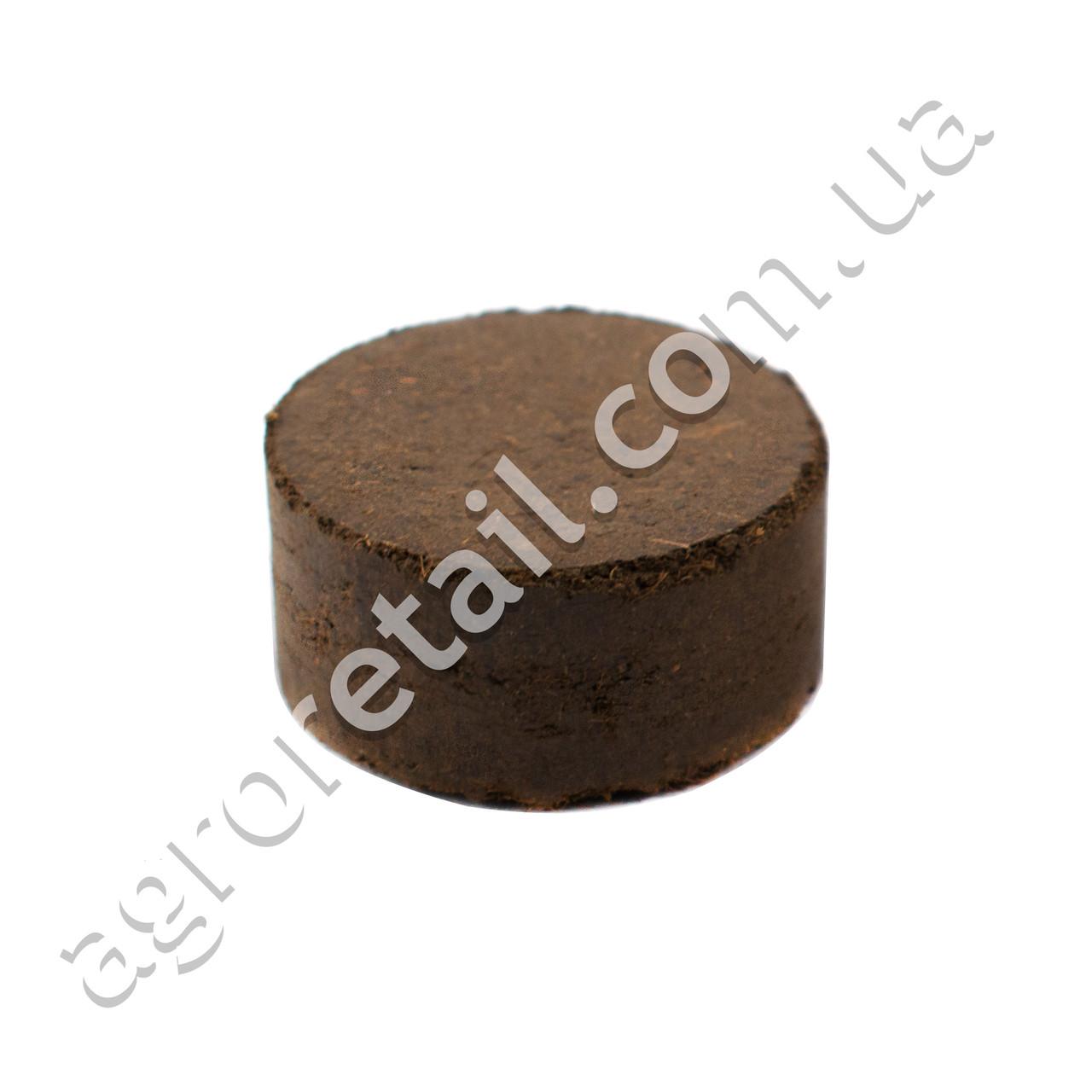 Торфобиогумусная таблетка Достаток Гуми+ Ø30 мм