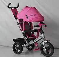 Трехколесный велосипед Crosser One T1 фара (EVA колеса),розовый