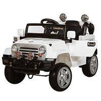 Детский электромобиль ДЖИП JJ 245 EBR-1, колеса EVA, белый