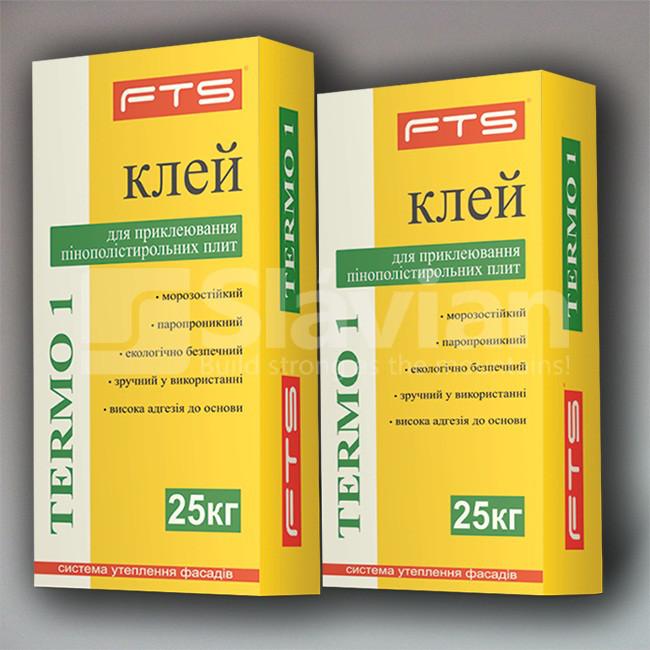 Клей для приклеевания пенополистирольных плит FTS «TERMO 1», 25 кг