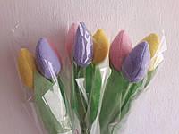 Тюльпаны букет из 3-х штук. Подарок на любой праздник, фото 1