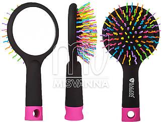 Расческа Salon Professional с зеркалом цветная