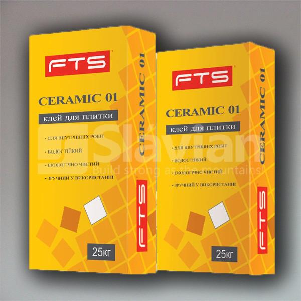 Клей для плитки FTS «CERAMIC 01», 25кг