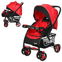 Коляска детская прогулочная DRIVE M 3424-3 красно-черная, фото 1