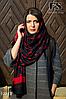 Чёрно-красный стильный шарф, фото 3