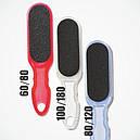 Шлифовальная пилка для педикюра Сталекс Т-01 80/120, синяя., фото 2