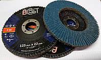 Наждачный круг шлифовальный тарельчатый КЛТ Р40 d125мм Best по нержавеющей стали