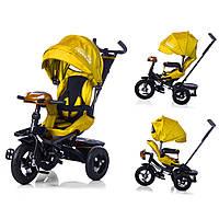 Велосипед-коляска с поворотным сиденьем, надувные колеса TILLY CAYMAN Жёлтый