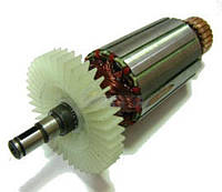 Якорь тст-н болгарки Ferm 125N (39*154.5 мм, хвостовик - шпонка+стопорное кольцо 8 мм)
