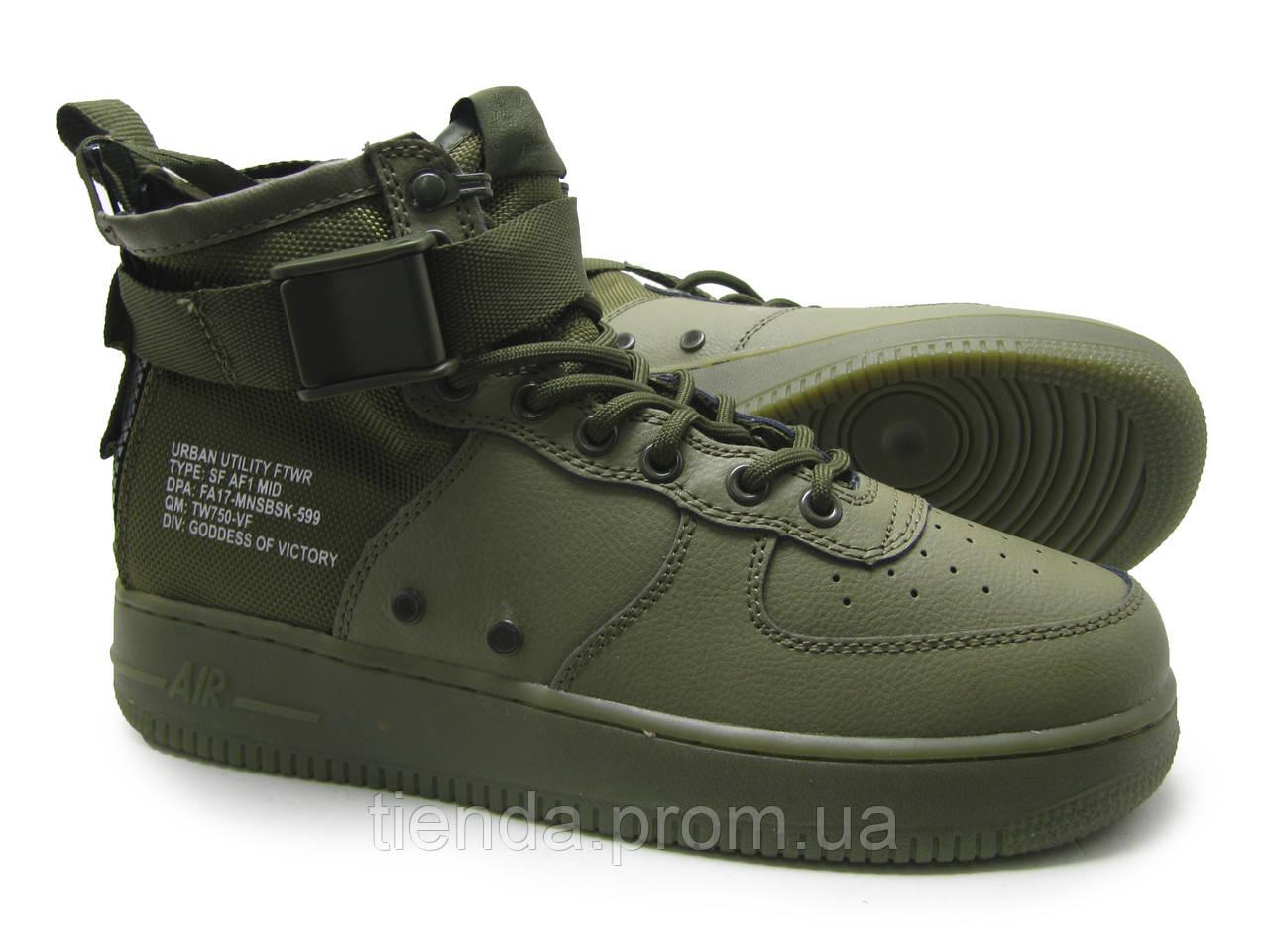 b59e35ed Мужские Кроссовки Nike SF Air Force 1 Utility Mid Haki: продажа ...