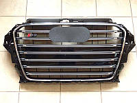 Решетка радиатора S3 Audi A3 2012+ (черная), фото 1